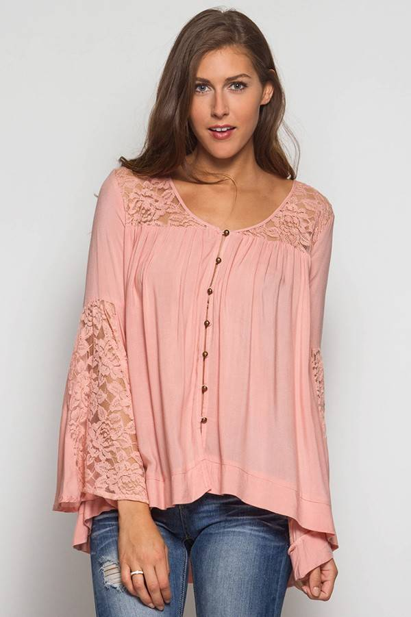 Fiona Floral Bell Sleeve Blouse