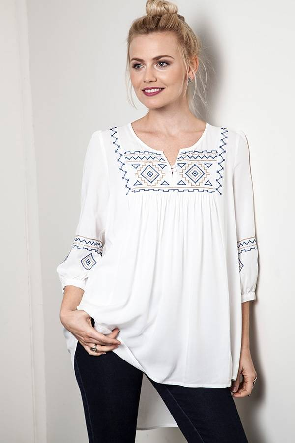Take Me Away Embroidered Tunic