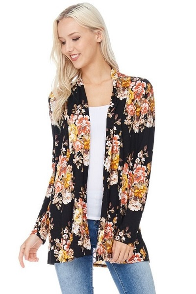 For the Love of Floral Cardigan