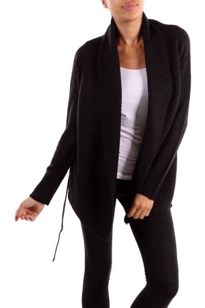 Black Tie Waist Sweater Cardigan