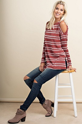 Candy Cane Striped Top