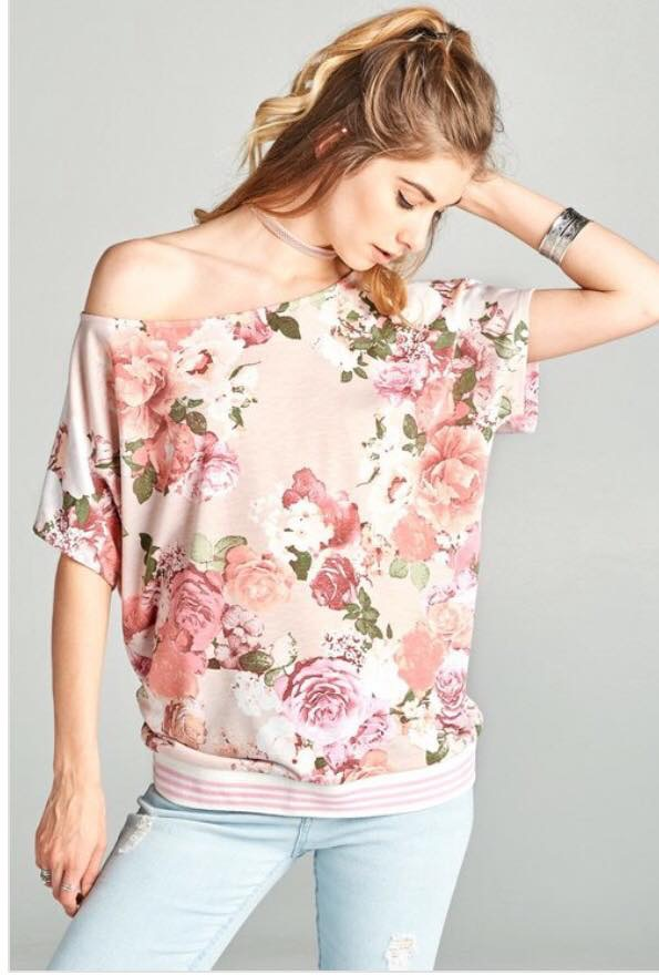 Floral Off Shoulder Tee