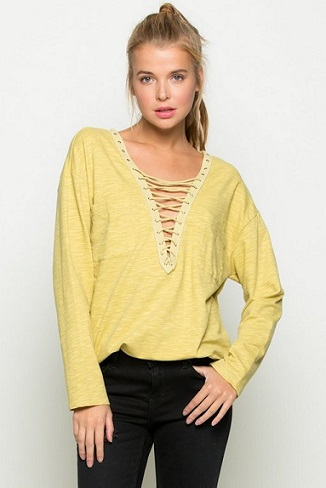 Honey Lace-Up Top