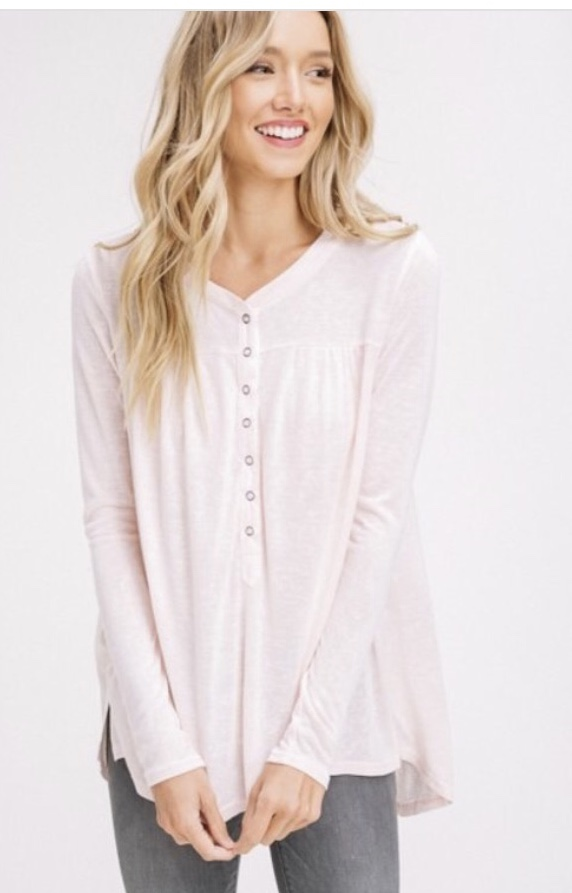 Pale Pink Henley